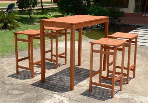 Barhocker Und Tisch by Bar Set Bartisch Barhocker Garnitur Sitzgruppe Holz Garten