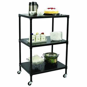 Apollo Hardware 3-Tier Solid Shelving with Wheels 18″x24 ...
