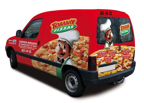 tommy pizzas  behance