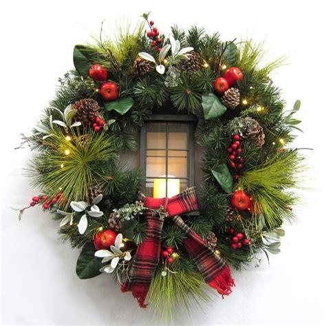 best outdoor battery or solar christmas garland lights best 25 artificial wreaths ideas on wreaths for front door diy