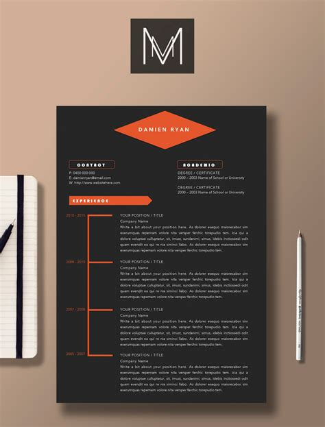 professional resume template 2 page resume 1 page cover