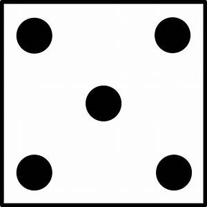 Dice numbers clipart