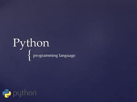 python programming language prezentatsiya onlayn