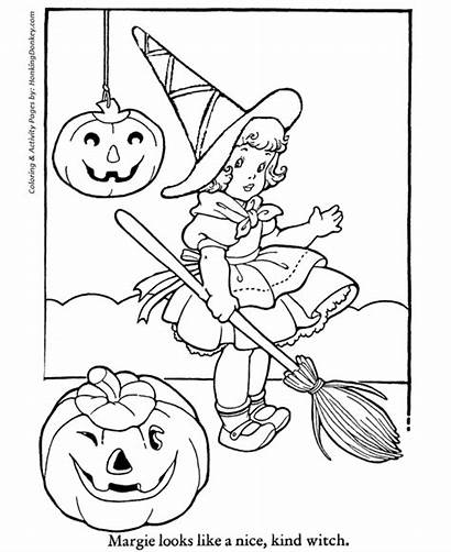 Halloween Coloring Pages Costume Honkingdonkey Witch Holiday