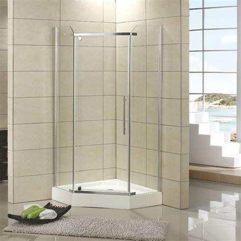 corner shower doors 42 quot x 42 quot walters corner shower enclosure with tray