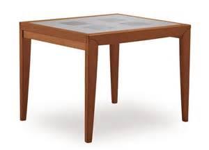 Tavolo quadrato allungabile in legno e vetro diana