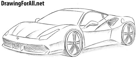 ferrari drawing how to draw a ferrari drawingforall net