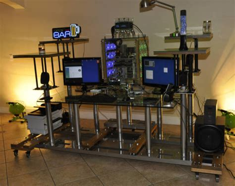 high tech computer desk latest computer gadgets crazy pipe dreams 30 000
