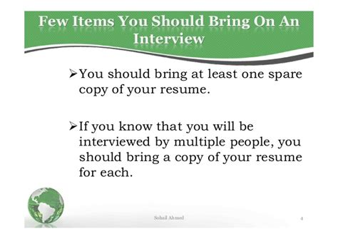 bring a copy of resume to resume ideas