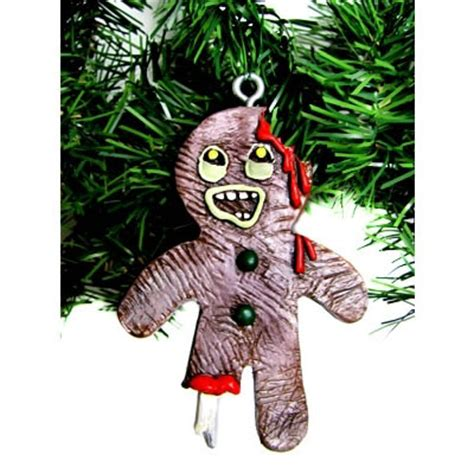 Gingerbread Zombie Christmas Ornament
