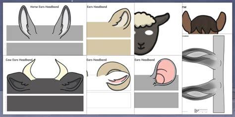 nativity animal ears headbands resource pack nativity