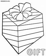 Gift Coloring Pages Box Colorings sketch template