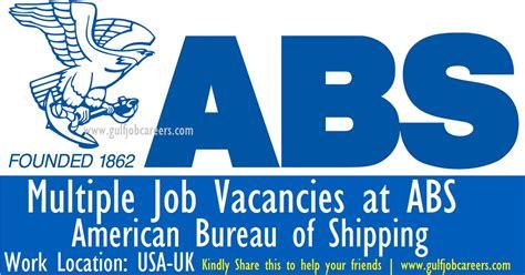 abs bureau of shipping vacancies at abs bureau of shipping