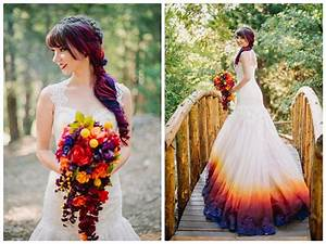 the air brushed wedding dress is the vibrant bridal trend With airbrushed wedding dress
