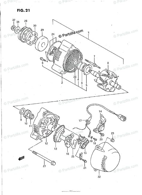 suzuki motorcycle 1992 oem parts diagram for alternator partzilla com