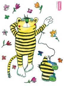 spiegel wohnzimmer fenstersticker tigerente und tiger blumenset greifen nach den sternen fensteraufkleber janosch