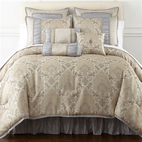 buy home expressions kingston 7 pc damask comforter now bedding sets store