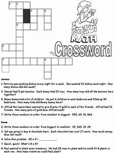 Math Crossword Puzzle Worksheets Free Worksheets Library ...