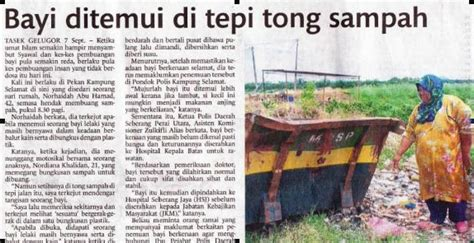 Mencegah Orang Hamil Gejala Pembuangan Bayi Di Malaysia
