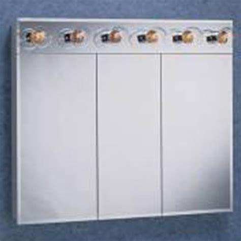 "Zenith 36"" Lighted Tri View Medicine Cabinet at Menards®"