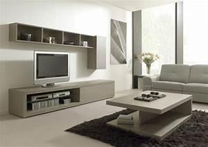 Meuble Tv Bois Gris : meuble salon bois gris maison design ~ Teatrodelosmanantiales.com Idées de Décoration