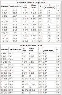 Men to Women's Shoe Size Chart