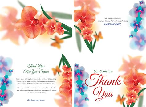 thank you card template adobe illustrator free bi fold thank you card template in adobe photoshop