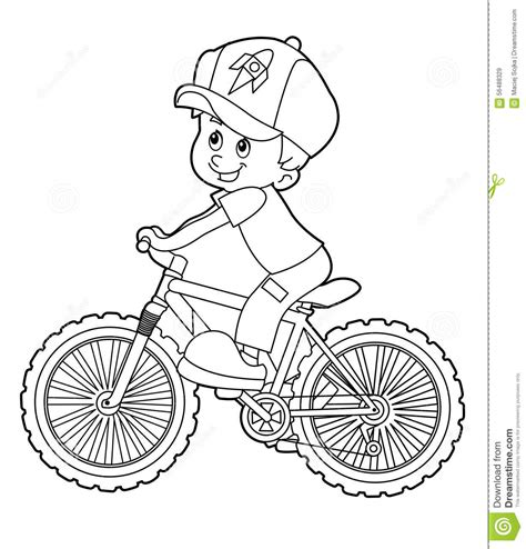 Drawn Biker Riding Bicycle Pencil And In Color Drawn