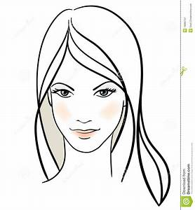 Image Gallery line drawing woman face