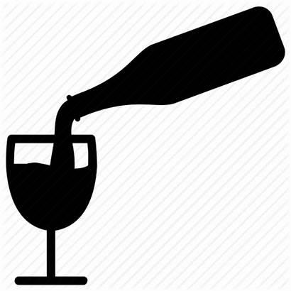 Wine Clipart Pouring Clip Bottle Glass Transparent
