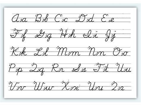 Cursive Handwriting Basics