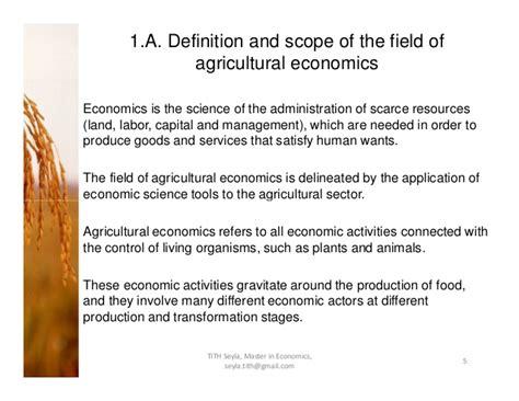 Agricultural economics-ppt