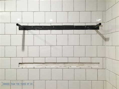 shower shelf installation how to install heavy duty floating shelves for the
