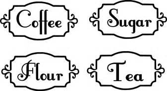 kitchen canisters flour sugar kitchen canister labels vinyl decals organization by