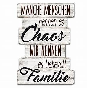 Wandschild Dekoschild Chaos Familie Schild Sprche Vintage