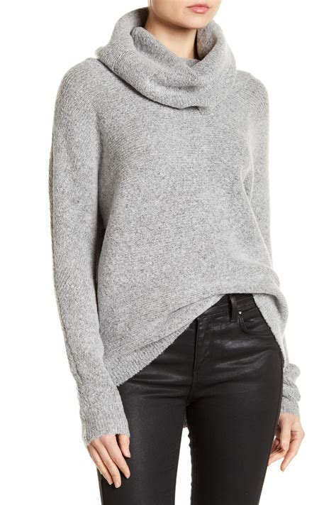 romeo sweater romeo and juliet couture cowl neck ribbed dolman sweater