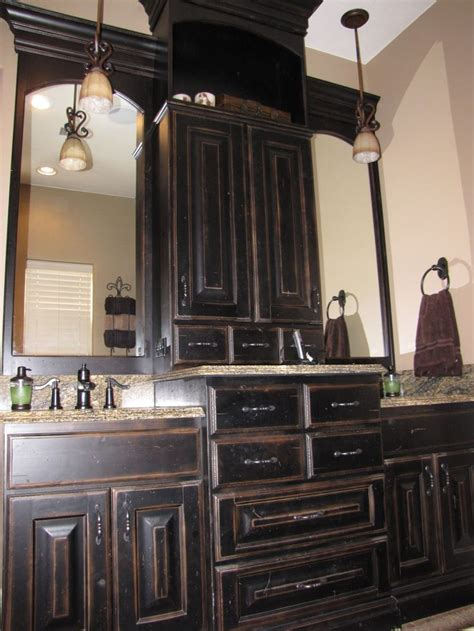 Black Distressed Bathroom Vanity by 25 Best Ideas About Black Cabinets Bathroom On