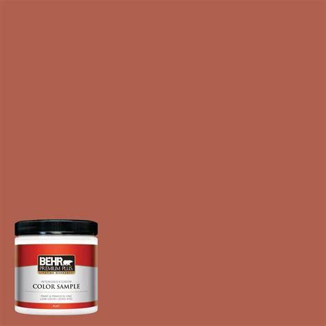 behr premium plus 8 oz bic 46 clay flat interior exterior paint and primer in one sle
