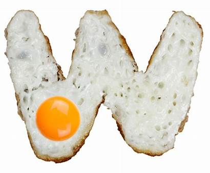 Eggs Font Fried Handmade Shaped Fonts Letter