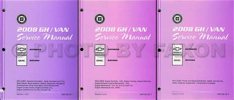 auto repair manual online 2008 chevrolet express windshield wipe control 2008 express van savana repair shop manual 3 volume set original chevy gmc