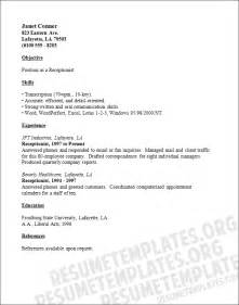 receptionist resume receptionist resume template accommodation management cv sles