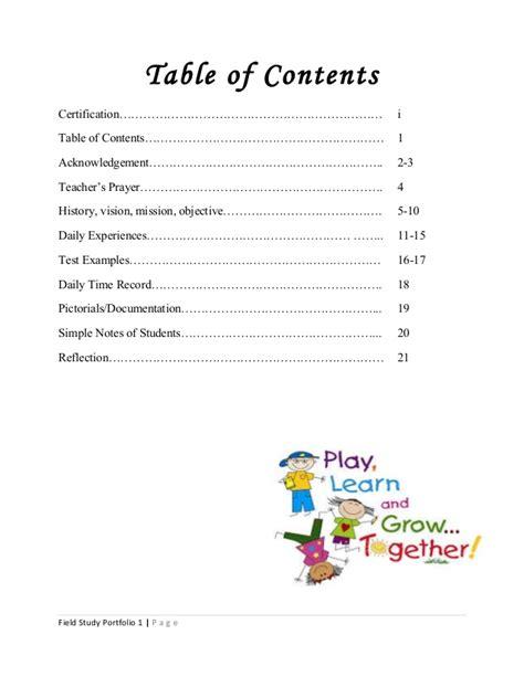 11439 architecture portfolio table of contents field study portfolio