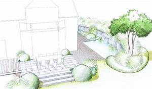 Terrasses En Vue : jardin en pente vue de la terrasse arri re by 4landscape ~ Melissatoandfro.com Idées de Décoration