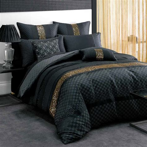 Black Coverlet by Black And Gold Bed Sheets Bed And Bath In Black Bedspread