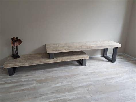 ikea tafel laag tv meubel hoog laag firma hout staal maatmeubelen