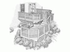 multi level homes deck plans deck design plans at eplans floor plans