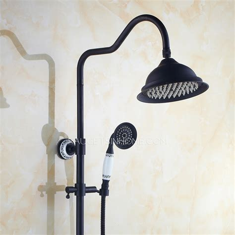 oil rubbed bronze brass outdoor shower faucet system