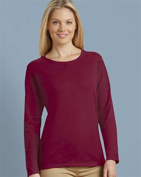 Gildan Womens Long Sleeve T Shirt 5400l The Clear Spot