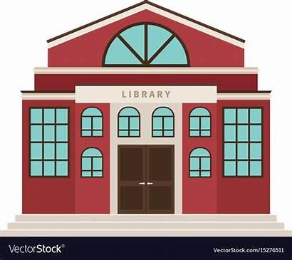 Library Cartoon Building Vector Icon Royalty Vectorstock