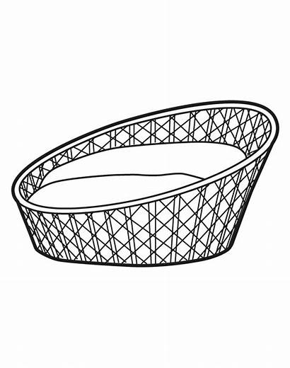 Pet Bed Basket Dog Drawing Replacement Fancy